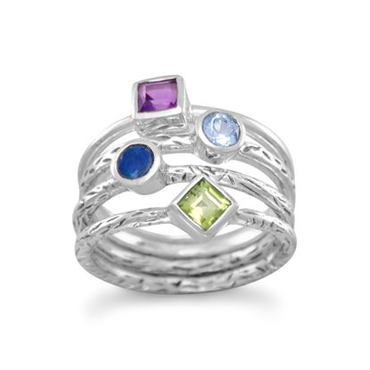 Picture of 4 Band Multistone Ring