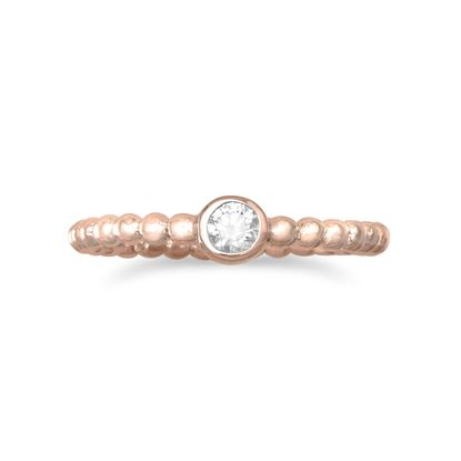 Picture of 14 Karat Rose Gold Plated CZ Ring