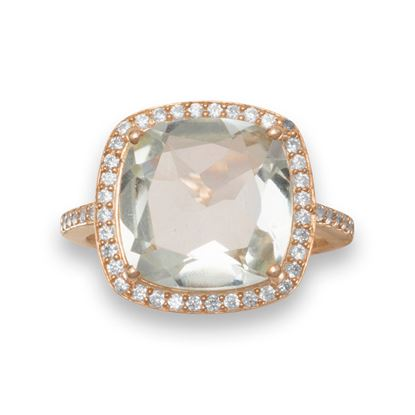 Picture of 14K Rose Gold Plated Prasiolite Ring