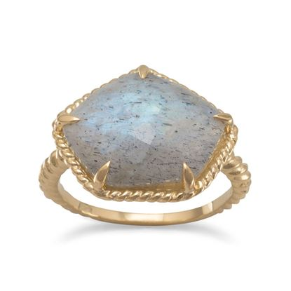 Picture of 14 Karat Gold Plated Labradorite Ring