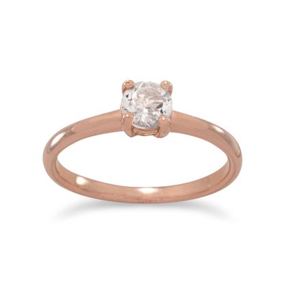 Picture of 14 Karat Rose Gold Plated Morganite Ring