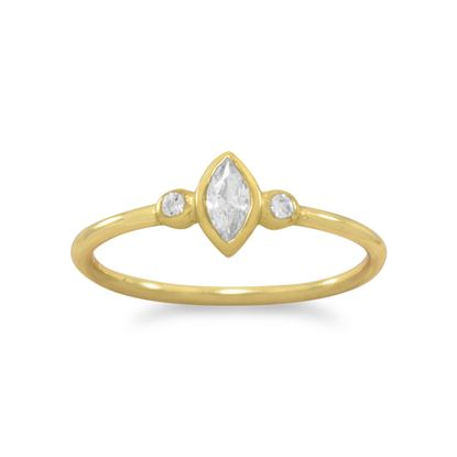Picture of 14 Karat Gold Plated Multishape CZ Ring