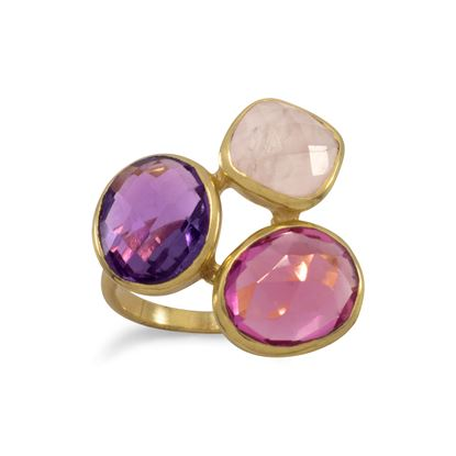 Picture of 14 Karat Gold Plated Multistone Ring