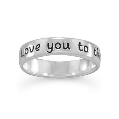"Picture of ""Love you to the moon and back"" Ring"