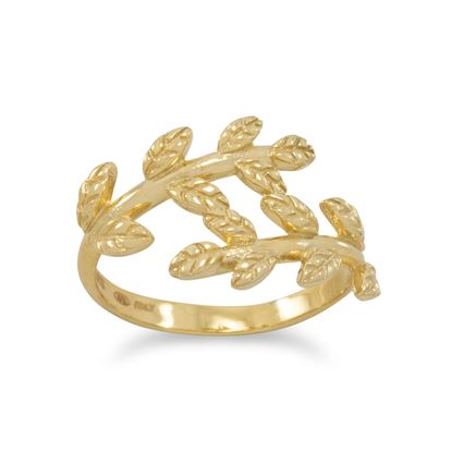 Picture of 14 Karat Gold Plated Wreath Ring