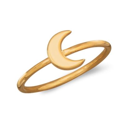 Picture of 14 Karat Gold Plated Moon Ring