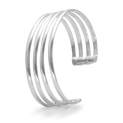 Picture of 4 Row Polished Cuff