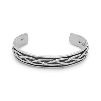 Picture of Oxidized Braided Men's Cuff Bracelet