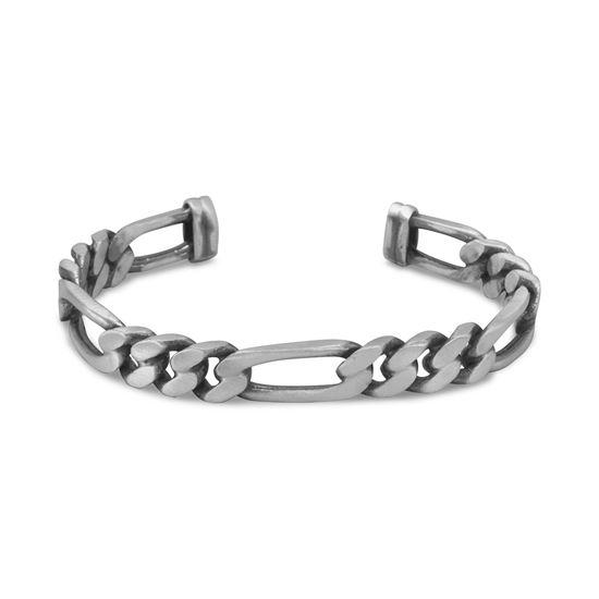 Picture of Oxidized Figaro Chain Cuff