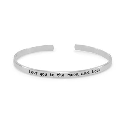 "Picture of ""Love you to the moon and back"" Cuff Bracelet"
