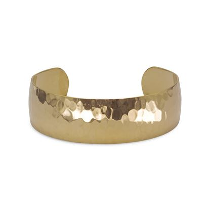 Picture of 14 Karat Gold Plated Brass Hammered Cuff