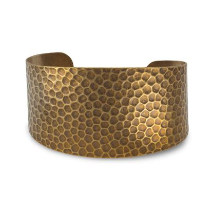 Picture of Antique Brass Hammered Cuff