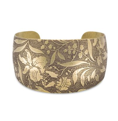Picture of Antique Brass Floral Design Cuff