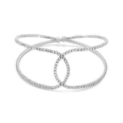 Picture of Crystal Fashion Flex Cuff Bracelet